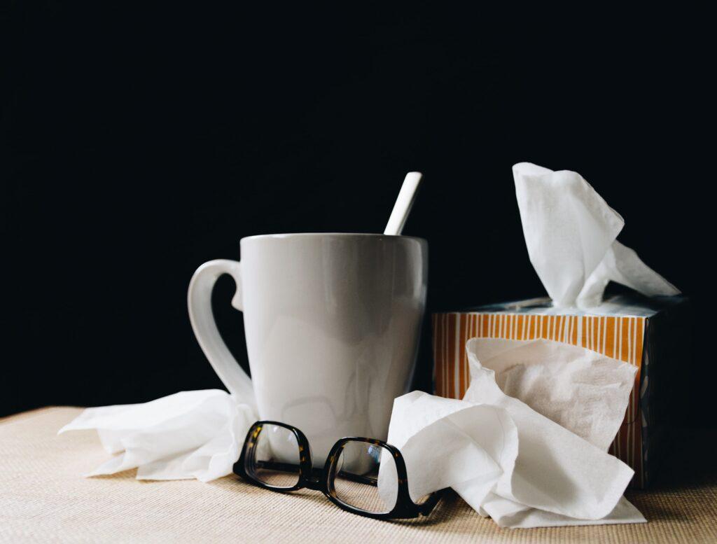 flu and covid sick person supplies